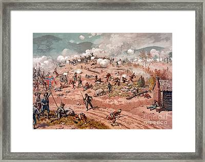 American Civil War, Battle Framed Print by Science Source