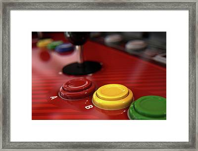 Arcade Control Panel  Framed Print by Allan Swart