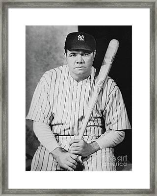 Babe Ruth Framed Print by American School