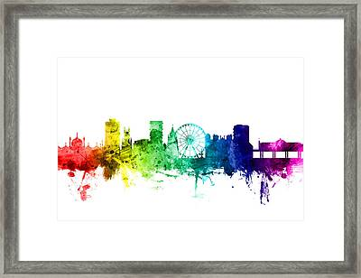 Brighton England Skyline Framed Print by Michael Tompsett