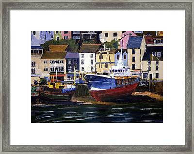 Brixham Harbour Framed Print by Mike Lester