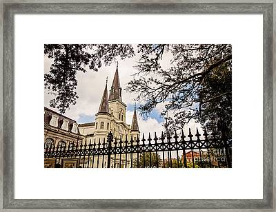 Cathedral Basilica Framed Print by Scott Pellegrin