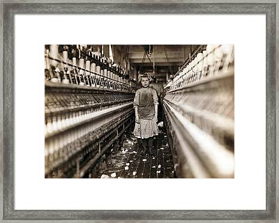 Child Laborer Portrayed By Lewis Hine Framed Print by Everett
