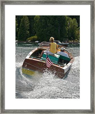 Chris-craft Classic Framed Print by Steven Lapkin
