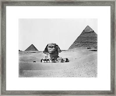Egypt: Great Sphinx Framed Print by Granger