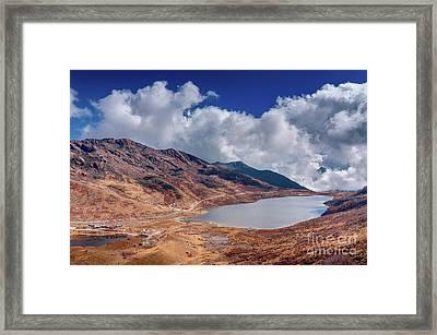 Elephant Lake Kupup Valley Sikkim India Framed Print by Rudra Narayan Mitra