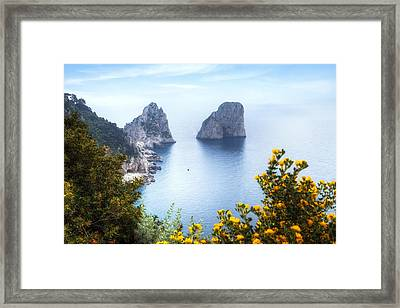 Faraglioni - Capri Framed Print by Joana Kruse
