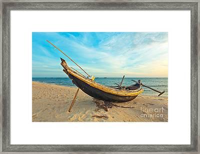 Fisherman Boat Framed Print by MotHaiBaPhoto Prints