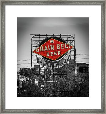 Grain Belt Beer Framed Print by Mountain Dreams