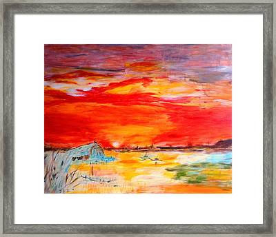 Landscape Pop Arts Framed Print by J j Jin