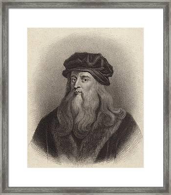 Leonardo Da Vinci Framed Print by English School