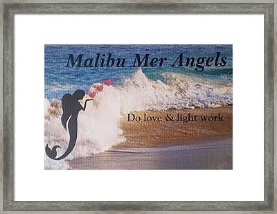 Malibu Mer Angels Framed Print by Chrystyna Wolford