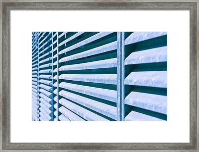 Metal Bars Framed Print by Tom Gowanlock