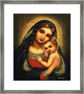 Oval Madonna Framed Print by Ananda Vdovic