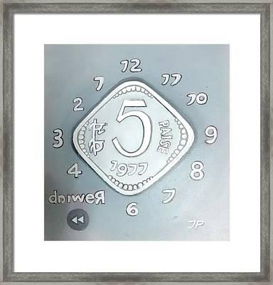 5 Paise Framed Print by Jeya Prakash Ashokan