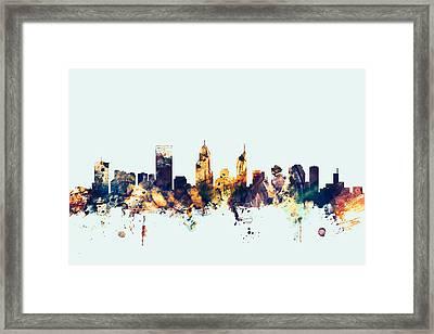 Perth Australia Skyline Framed Print by Michael Tompsett