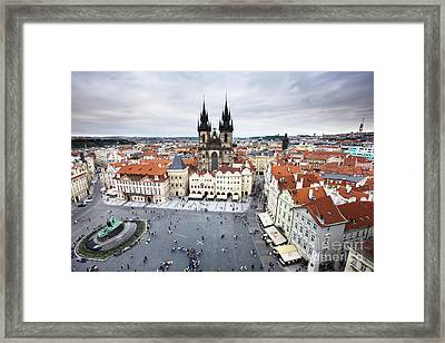 Prague Old Town Square Framed Print by Andre Goncalves