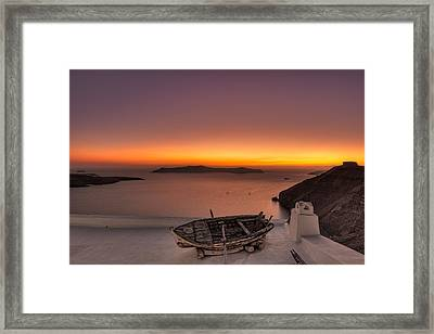 Santorini - Greece Framed Print by Constantinos Iliopoulos