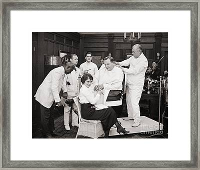 Silent Still: Barber Shop Framed Print by Granger