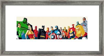 Superheroes Dc Framed Print by Egor Vysockiy