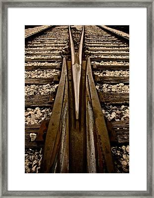 Switch Framed Print by Odd Jeppesen