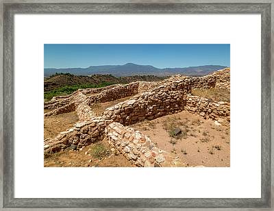 Tuzigoot National Monument Framed Print by Jon Manjeot