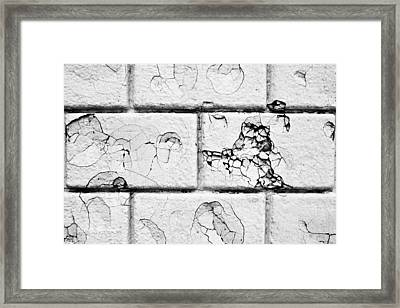 White Brick Wall Framed Print by Tom Gowanlock