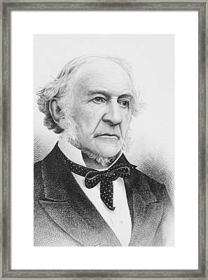 William Ewart Gladstone 1809 To 1898 Framed Print by Vintage Design Pics
