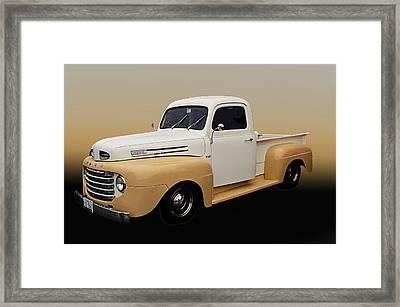 50 Ford Pickup Framed Print by Jim  Hatch