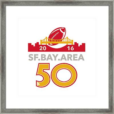 50 San Francisco Pro Football Championship Framed Print by Aloysius Patrimonio
