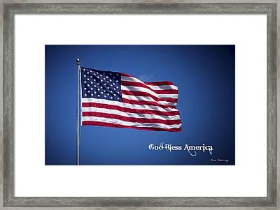 50 Stars Thirteen Stripes American Flag  God Bless America Framed Print by Reid Callaway