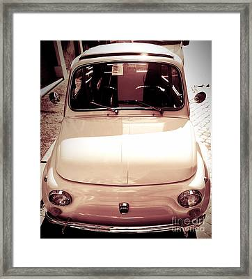 500 Fiat Toned Sepia Framed Print by Stefano Senise