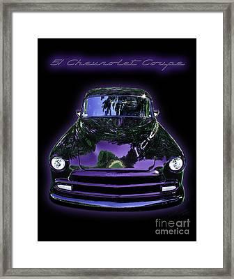 51chevrolet Coupe Framed Print by Peter Piatt