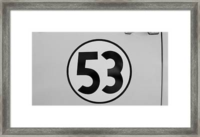 53 Herbie B W Framed Print by Rob Hans
