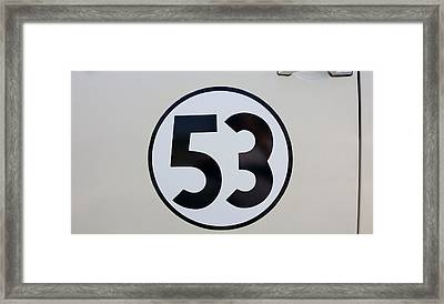 53 Herbie Framed Print by Rob Hans