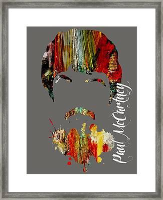 Paul Mccartney Collection Framed Print by Marvin Blaine