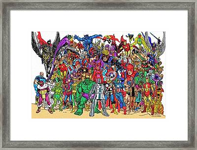 Superhero Art Framed Print by Egor Vysockiy