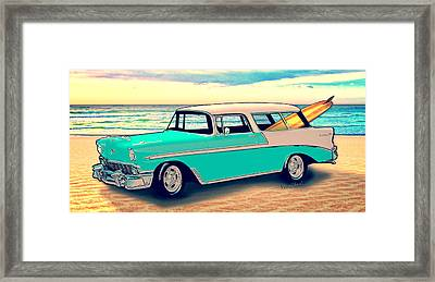 56 Nomad By The Sea In The Morning With Vivachas Framed Print by Chas Sinklier