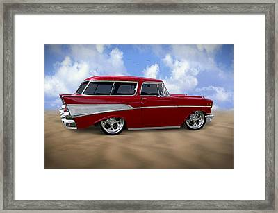 57 Belair Nomad Framed Print by Mike McGlothlen