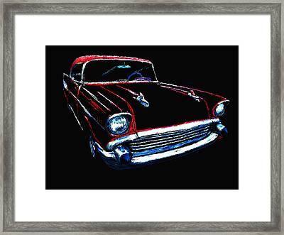 57 Chevy Framed Print by Tim Tompkins