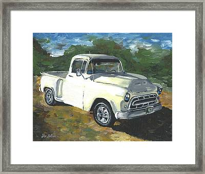 57 Chevy Truck Painting Framed Print by Lee Keller