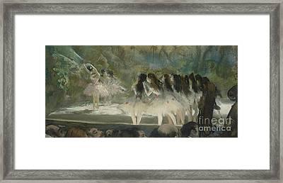 Ballet At The Paris Opera Framed Print by Edgar Degas