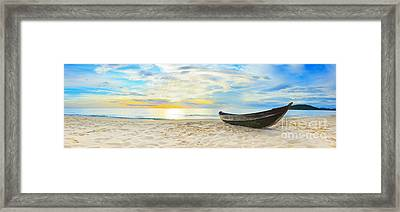 Beach Panorama Framed Print by MotHaiBaPhoto Prints