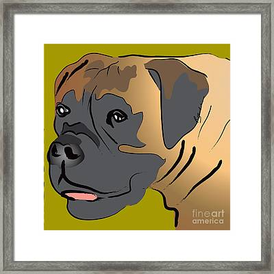Boxer Dog Portrait Framed Print by Robyn Saunders