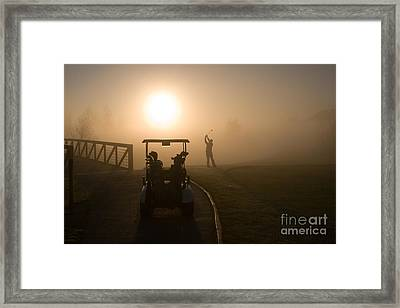 California Golf Course Sunrise Morning Golfers Framed Print by ELITE IMAGE photography By Chad McDermott