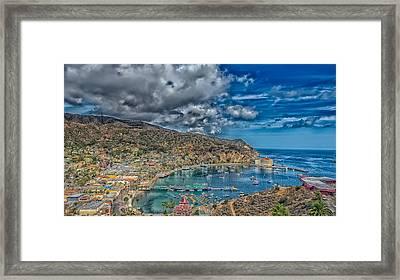 Catalina Island Harbor Framed Print by Mountain Dreams
