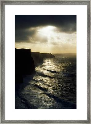 Cliffs Of Moher, Co Clare, Ireland Framed Print by The Irish Image Collection