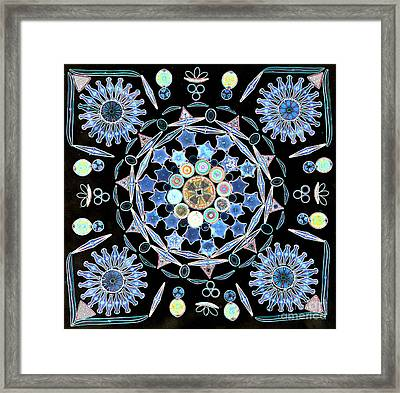 Diatoms Framed Print by M I Walker
