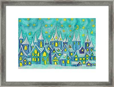 Dreamstown, Painting Framed Print by Irina Afonskaya