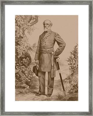General Robert E. Lee Framed Print by War Is Hell Store